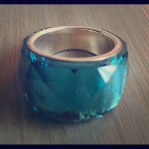 Genuine Swarovski turquoise color ring